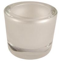 SVÍČKA VE SKLE - perleť, Design, sklo (6,5/5,7cm)