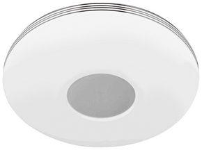 LED-TAKLAMPA - vit/kromfärg, Basics, metall/plast (34/7cm) - Novel