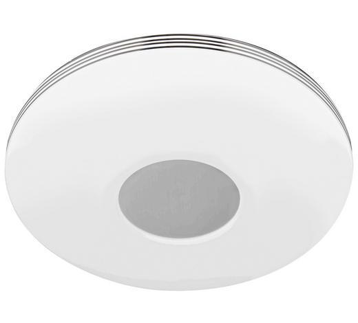 LED-DECKENLEUCHTE - Chromfarben/Weiß, Basics, Kunststoff/Metall (34/7cm) - Novel