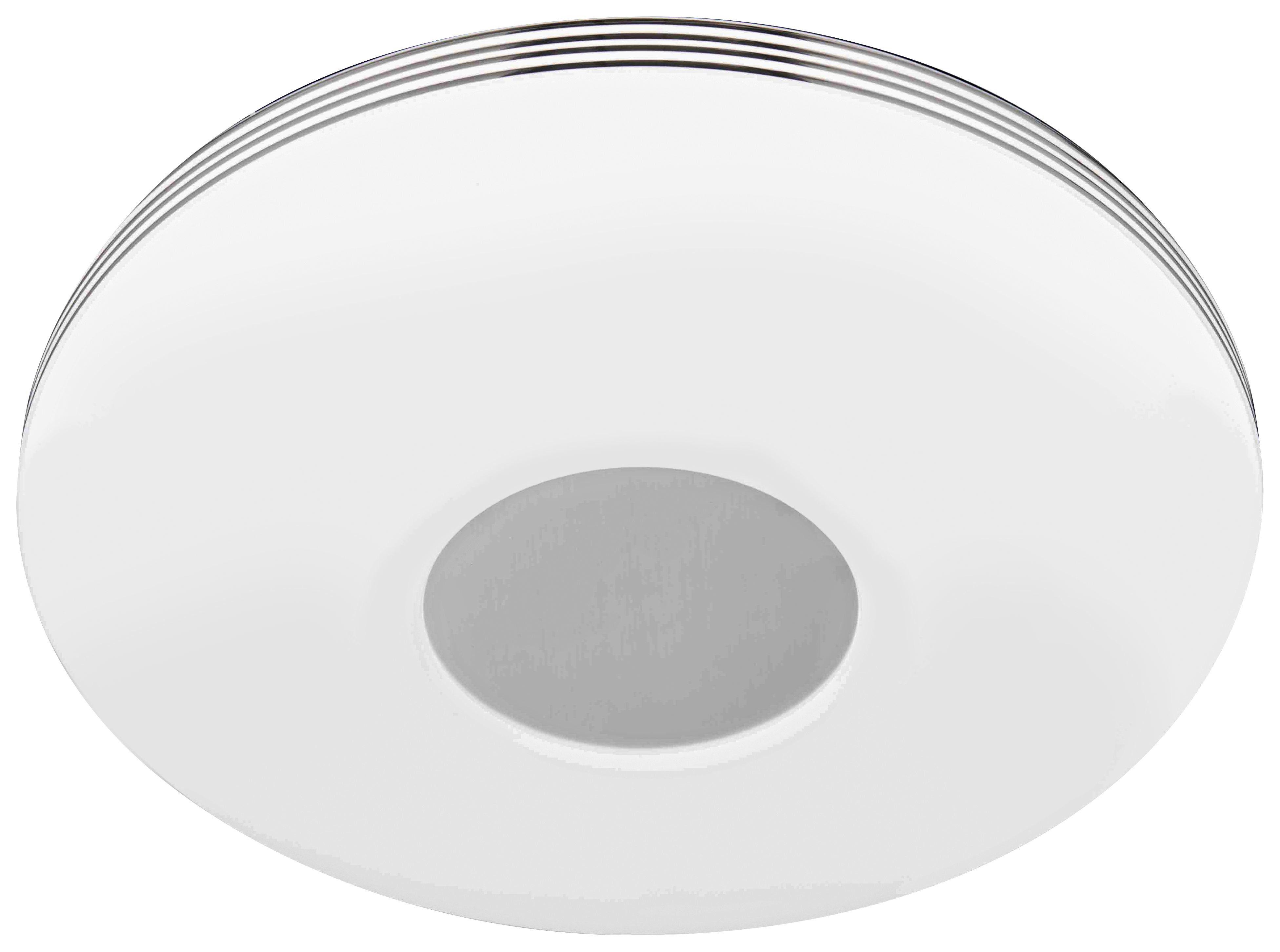 LED SVJETILJKA STROPNA - bijela/boje kroma, Design, metal/plastika (34/7cm) - Novel