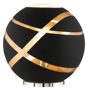 BORDSLAMPA - kromfärg/svart, Lifestyle, metall/glas (30,0/30,0cm)