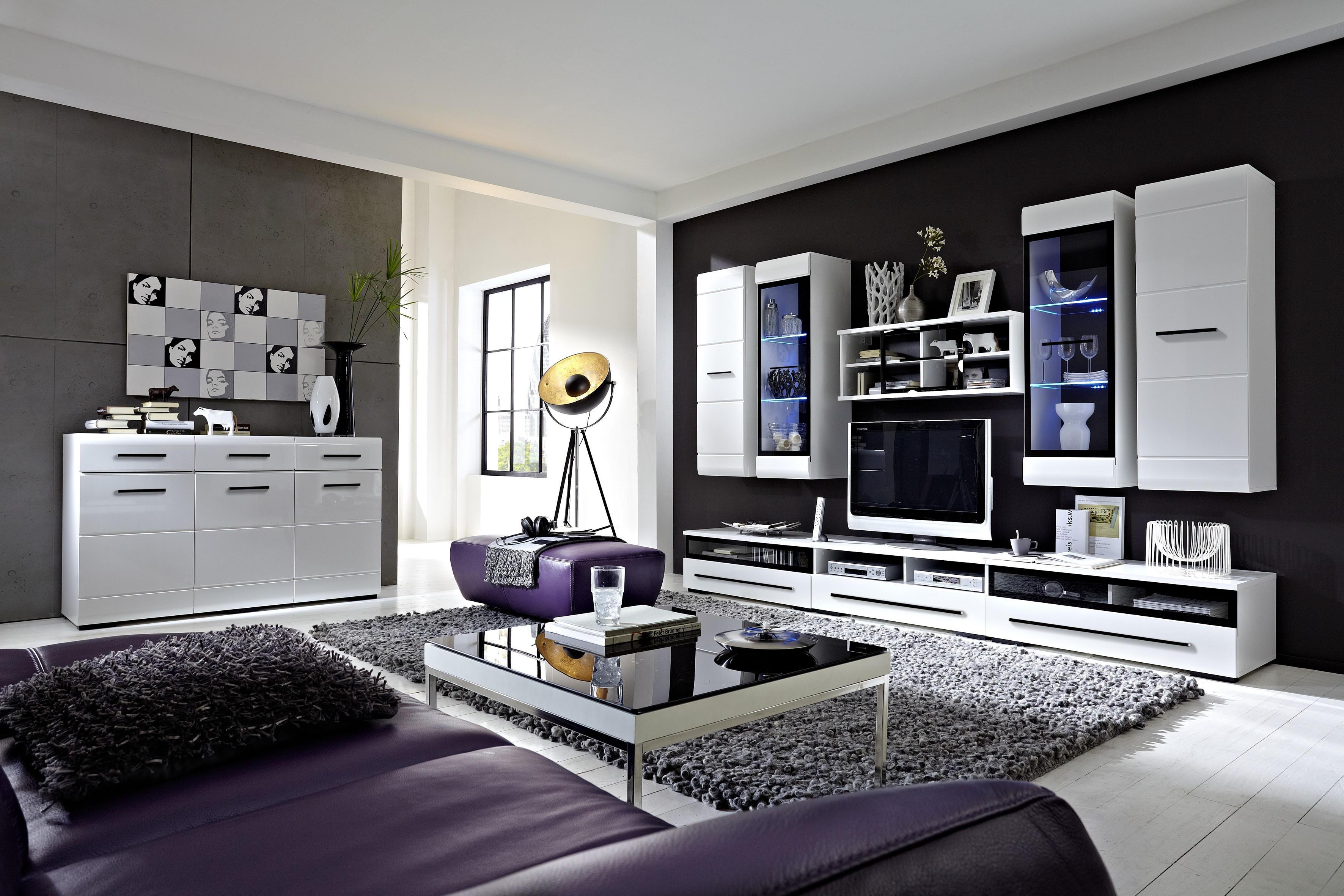 DNEVNI REGAL - črna/bela, Design, umetna masa/steklo (300/200/50cm) - XORA