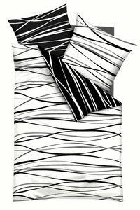 POSTELJINA - Crna/Bela, Konvencionalno, Tekstil (200/200cm) - Kaeppel