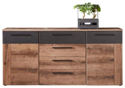 SIDEBOARD Eichefarben, Schwarz - Eichefarben/Schwarz, Design, Holzwerkstoff/Kunststoff (179,6/85,6/34,1cm) - Carryhome