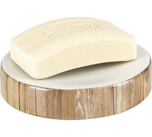 SEIFENSCHALE Keramik  - Braun/Weiß, Design, Keramik (12,4/2,5/12,4cm) - Sadena