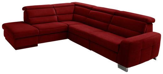 WOHNLANDSCHAFT in Textil Bordeaux - Bordeaux/Alufarben, KONVENTIONELL, Textil/Metall (245/295cm) - Beldomo System