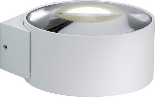 AUßENLEUCHTE Weiß - Weiß, Design, Metall (6,5/11/11,5cm)