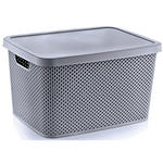 AUFBEWAHRUNGSBOX    38,5/28/22 cm  - Dunkelgrau, Basics, Kunststoff (38,5/28/22cm) - Homeware
