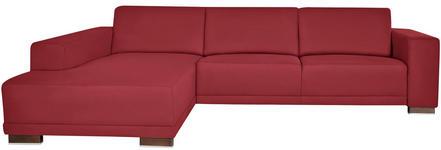 WOHNLANDSCHAFT in Bordeaux Textil - Bordeaux/Nussbaumfarben, Design, Holz/Textil (192/287cm) - Xora