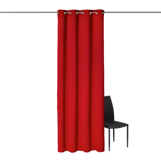 ÖSENSCHAL  black-out (lichtundurchlässig)  140/245 cm - Rot, Basics, Textil (140/245cm) - ESPOSA