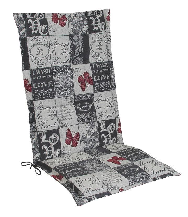 SESSELAUFLAGE Karo - Weiß/Grau, Design, Textil (48/4/118cm)