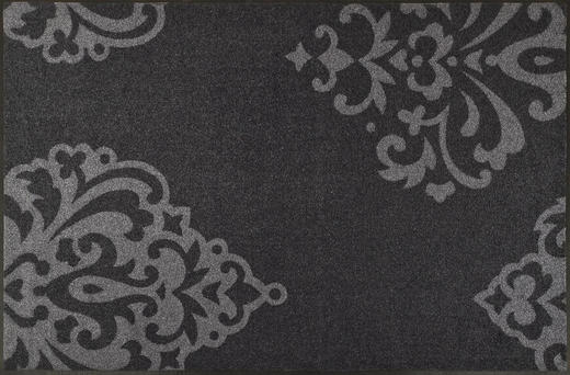 FUßMATTE 115/175 cm Graphik Grau - Grau, Basics, Kunststoff/Textil (115/175cm) - Esposa