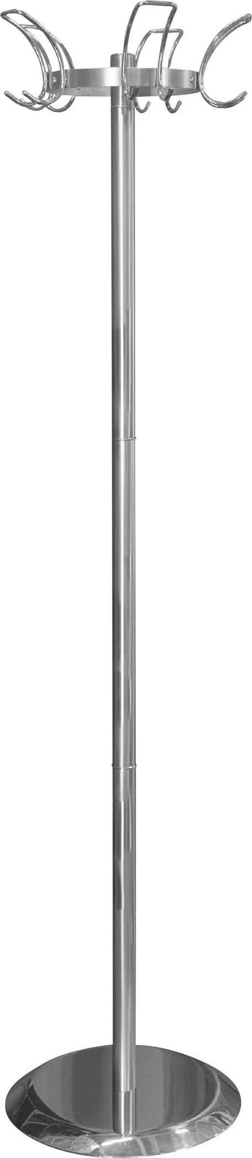 KLEIDERSTÄNDER Chromfarben, Edelstahlfarben - Chromfarben/Edelstahlfarben, Design, Metall (42/178/42cm)