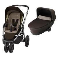 Kinderwagenset Mura 3 Plus  Braun - Silberfarben/Braun, Basics, Textil/Metall (65/106/13,5cm) - MAXI COSI
