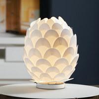 LAMPA STOLNÍ - bílá/barvy chromu, Trend, kov/umělá hmota (30/36cm) - Novel