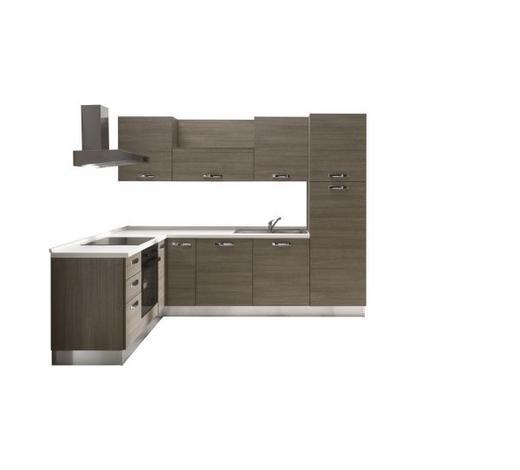 KUHINJSKI BLOK - bijela/boje hrasta, Moderno, drvni materijal (195/270cm) - Italstyle