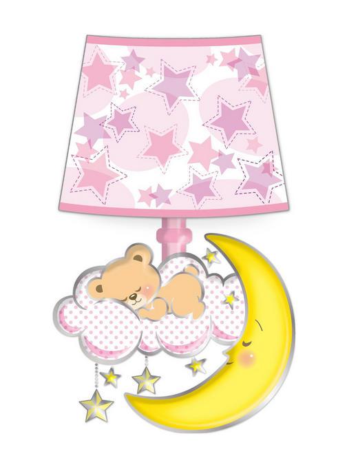 Tiere Wandsticker mit Licht - Rosa, Basics, Kunststoff (19/30/1,5cm)