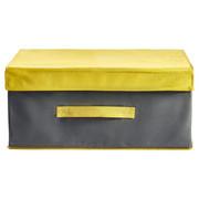 BOX MIT DECKEL - Grau, Textil (33/19/44cm)