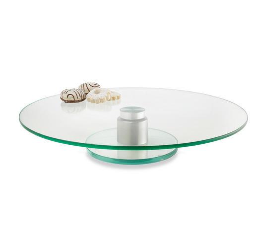 PODNOS NA DORT - čiré, Design, sklo (33cm) - Leonardo