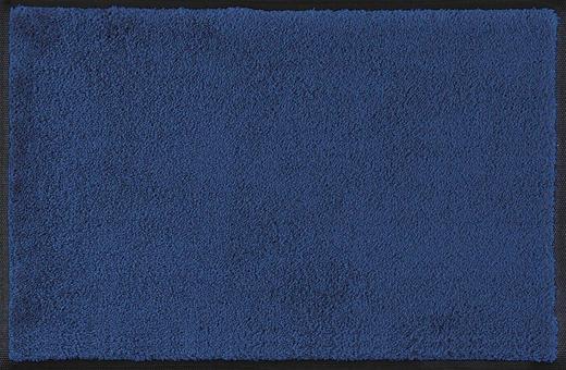 FUßMATTE 75/190 cm Uni Blau - Blau, Basics, Kunststoff/Textil (75/190cm) - Esposa