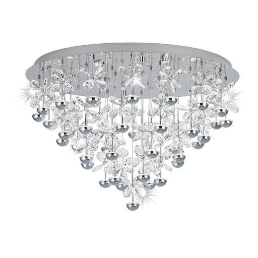 LED-DECKENLEUCHTE - Chromfarben, LIFESTYLE, Glas/Metall (78/52,5cm)
