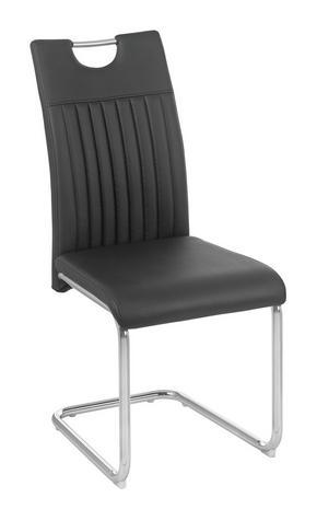 SVIKTSTOL - kromfärg/svart, Design, metall/textil (43/96/58,5cm) - Carryhome