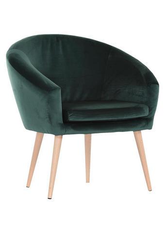 FOTELJ,  temno zelena tekstil - naravna/temno zelena, Design, tekstil (73/73/43/66cm) - Carryhome