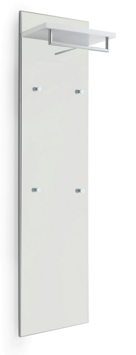 GARDEROBENPANEEL 42/170/27 cm - Weiß, Design, Glas/Holzwerkstoff (42/170/27cm) - Novel