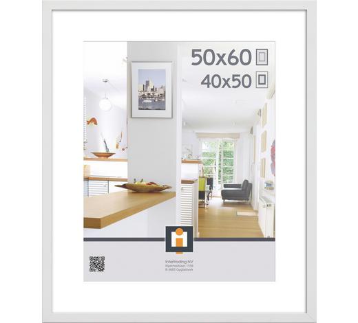 BILDERRAHMEN  Weiß  - Weiß, Basics, Glas/Kunststoff (50/60/3cm)