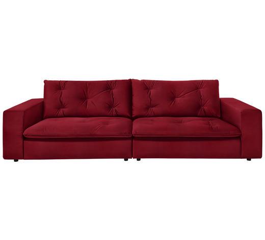 SOFA in Textil Rot  - Rot/Schwarz, Design, Kunststoff/Textil (290/87/122cm) - Ambiente