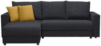 WOHNLANDSCHAFT in Textil Dunkelgrau, Gelb - Dunkelgrau/Gelb, Design, Kunststoff/Textil (176/246cm) - Xora