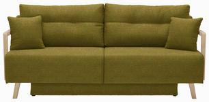 SCHLAFSOFA in Textil Olivgrün - Naturfarben/Olivgrün, KONVENTIONELL, Holz/Textil (200/92/95cm) - Venda