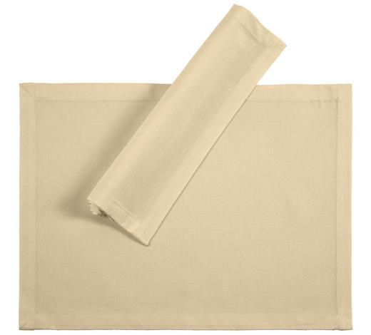 TISCHSET 33/45 cm Textil - Creme, Basics, Textil (33/45cm) - Novel