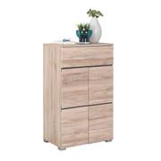 SCHUHSCHRANK 60/103/40 cm - Chromfarben/Eichefarben, Design, Holzwerkstoff/Kunststoff (60/103/40cm) - Xora