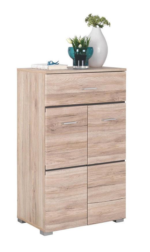SCHUHSCHRANK Eichefarben - Chromfarben/Eichefarben, KONVENTIONELL, Holzwerkstoff/Kunststoff (60/103/40cm) - Xora