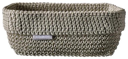 AUFBEWAHRUNGSBOX - Beige/Grau, Design, Textil (20/12/9cm) - Ambiente