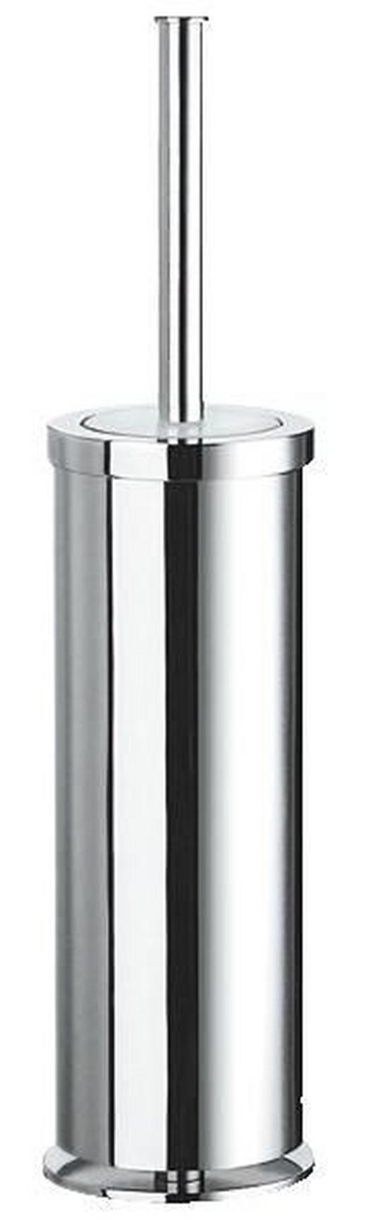 WC-BÜRSTENGARNITUR in Glas, Metall - Chromfarben, Basics, Glas/Kunststoff (9,5/41cm)