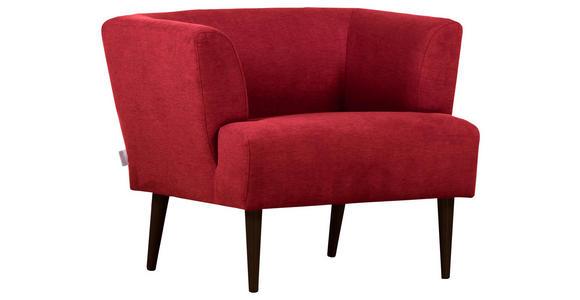 SESSEL in Textil Rot - Rot/Schwarz, Design, Holz/Textil (85/71/80cm) - Hom`in
