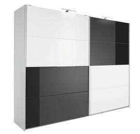 SKJUTDÖRRSGARDEROB - vit/alufärgad, Design, metall/glas (271/229/62cm) - Xora
