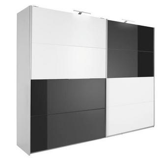SKŘÍŇ S POSUVNÝMI DVEŘMI - bílá/černá, Konvenční, kov/dřevěný materiál (271/210/62cm) - XORA