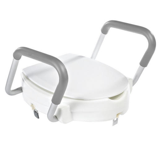 WC- Sitzerhöhung - Weiß, Basics, Kunststoff