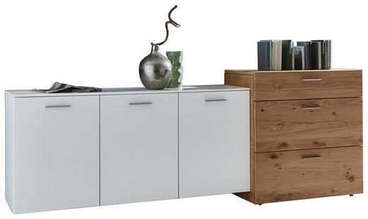 KOMMODE Balkeneiche furniert Eichefarben, Weiß - Eichefarben/Weiß, Design, Holz/Holzwerkstoff (246,4/92,4/51,9cm) - Ambiente by Hülsta