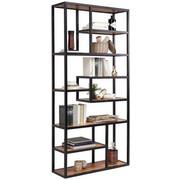 REGÁL - černá/barvy akácie, Trend, kov/dřevo (90/190/30cm) - Carryhome