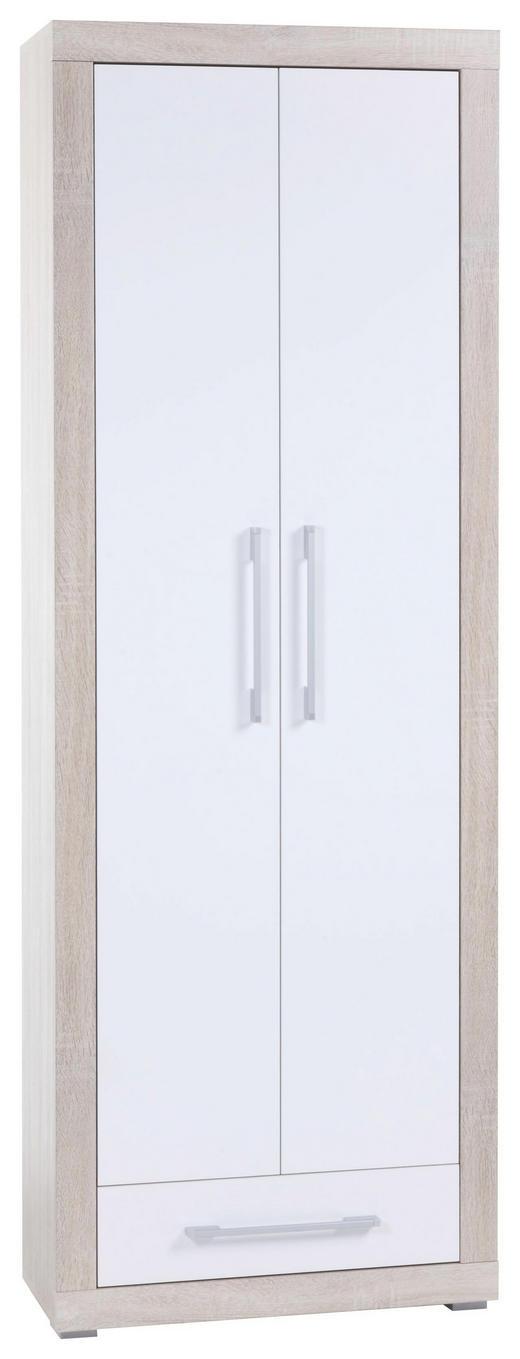 AKTENSCHRANK Sonoma Eiche, Weiß - Weiß/Sonoma Eiche, Design, Holz (68/198/36cm) - CANTUS