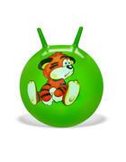 SKÁKACÍ MÍČ - zelená, Basics, umělá hmota (45cm) - My Baby Lou