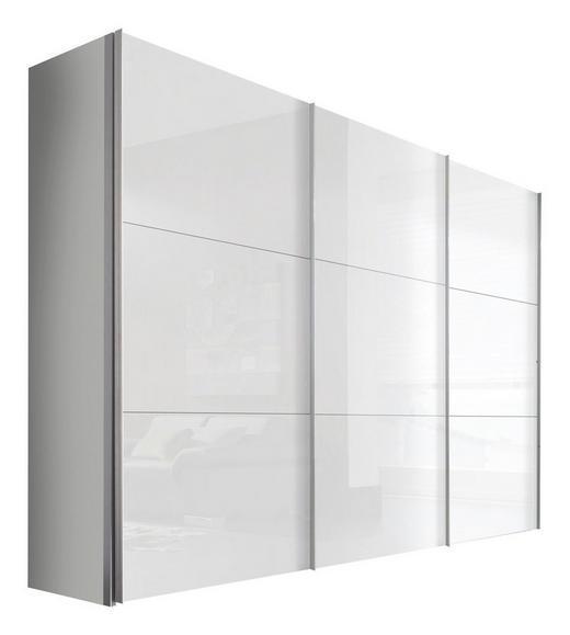 SCHWEBETÜRENSCHRANK 2-türig Weiß - Alufarben/Weiß, KONVENTIONELL, Holzwerkstoff/Metall (300/216/68cm) - Hom`in