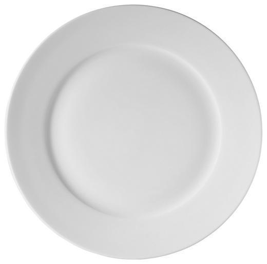 Bone China  DESSERTTELLER  rund - Weiß, Basics (22cm) - NOVEL