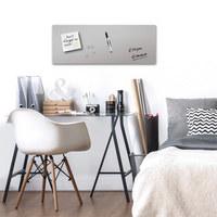 MEMOBOARD - Grau, Basics, Glas/Metall (30/80/2,00cm) - Eurographics