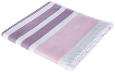 DUSCHTUCH 80/160 cm - Pink/Weiß, Basics, Textil (80/160cm) - Esposa