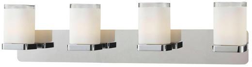 WANDLEUCHTE - Chromfarben, Design, Glas/Metall (52/11,5/12cm)